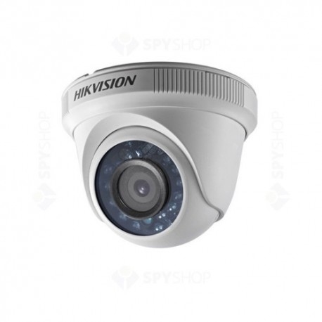 Camera supraveghere Dome Hikvision TurboHD DS-2CE56D0T-IRF, 2 MP, IR 20 m, 2.8 mm